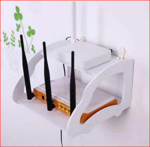 Kệ wifi treo tường 2 tầng nhỏ gọn -IG375