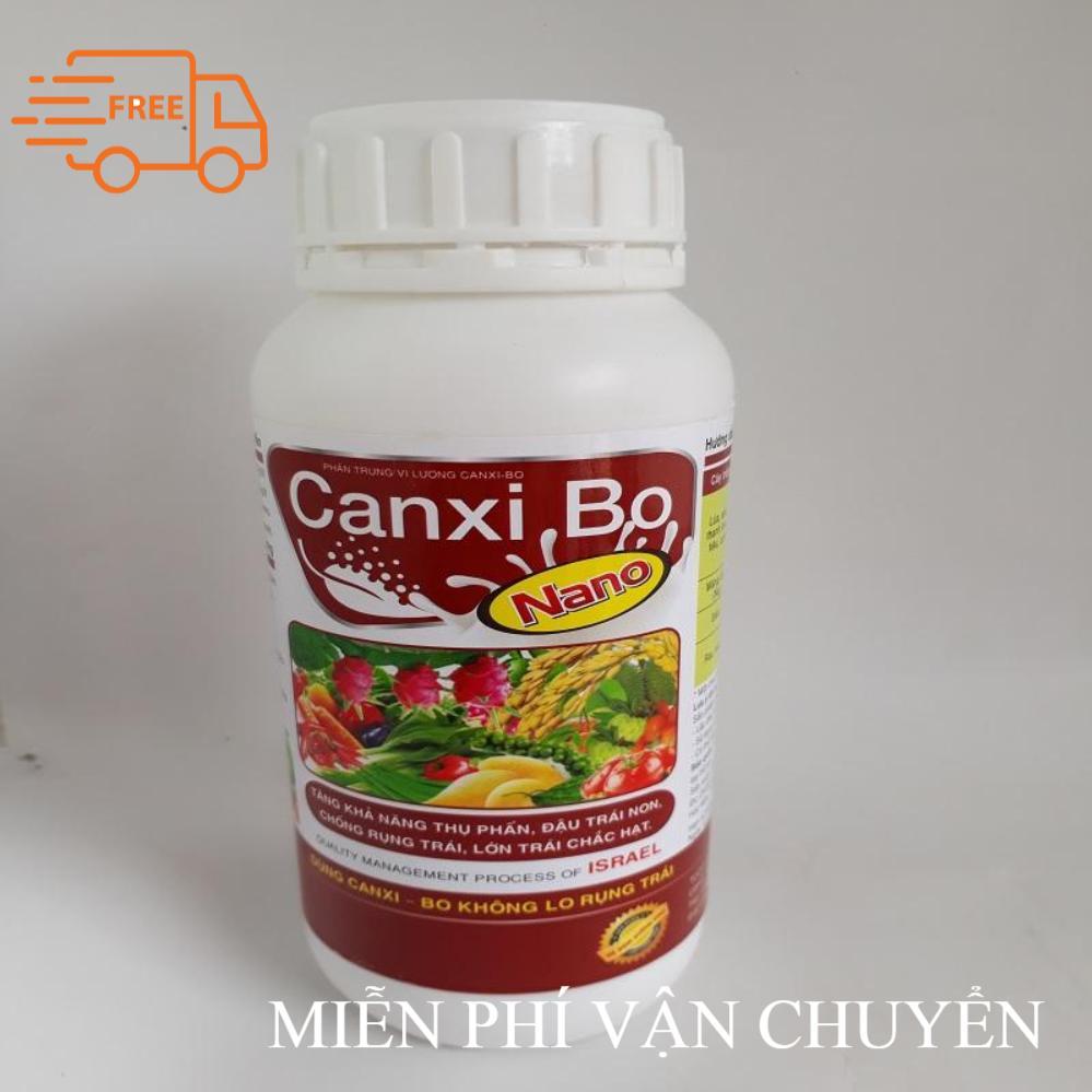 Phân bón lá Canxi Bo Nano 500ml giúp dai cuống chống rụng, tăng ra hoa đậu trái, giảm hiện tượng khô trái, bọng ruột