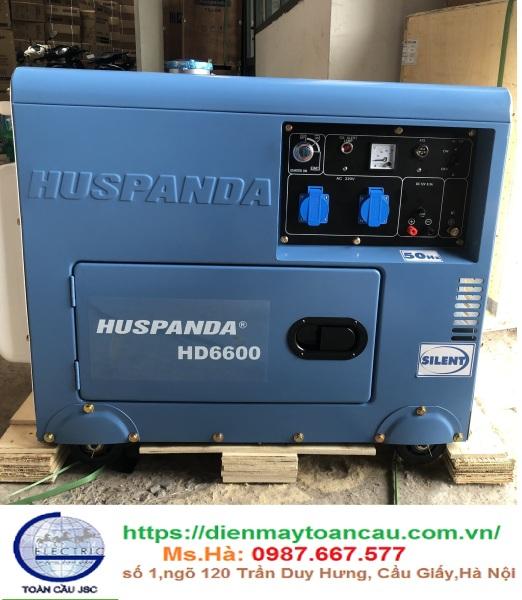 Máy phát điện dầu giảm âm HUSPANDA HD6600