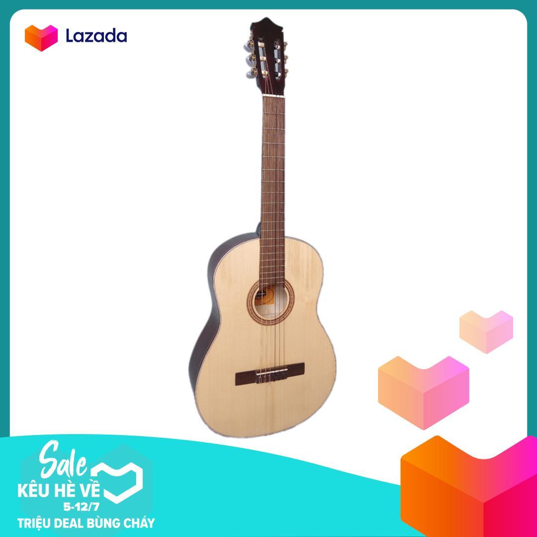 Đàn guitar Classic DG08C natural + Bao da, Tặng phụ kiện Duy Guitar - Shop đàn ghita cổ điển giá tốt dành cho bạn mới tập