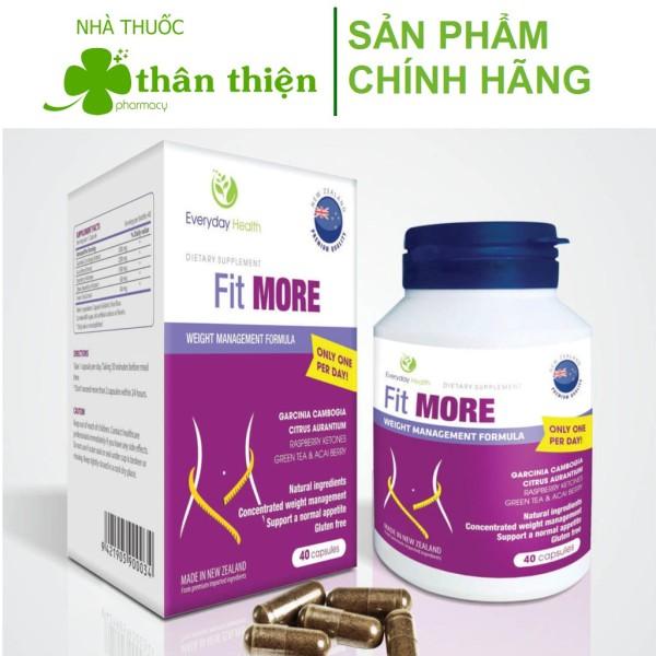 Nhập Newzealand} FIT MORE – Hỗ trợ giảm cân, giảm béo, tăng cường chuyển hóa chất béo an toàn hiệu quả (40 viên) giá rẻ
