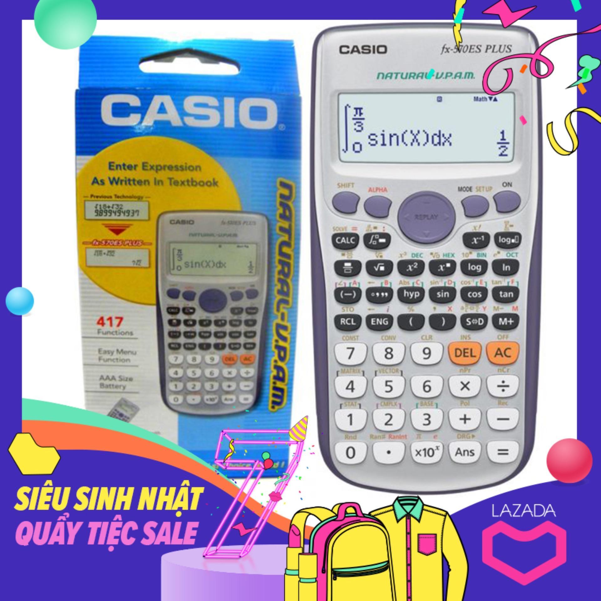 Mua Casio FX570 ES Plus - Bảo Hành 2 Năm