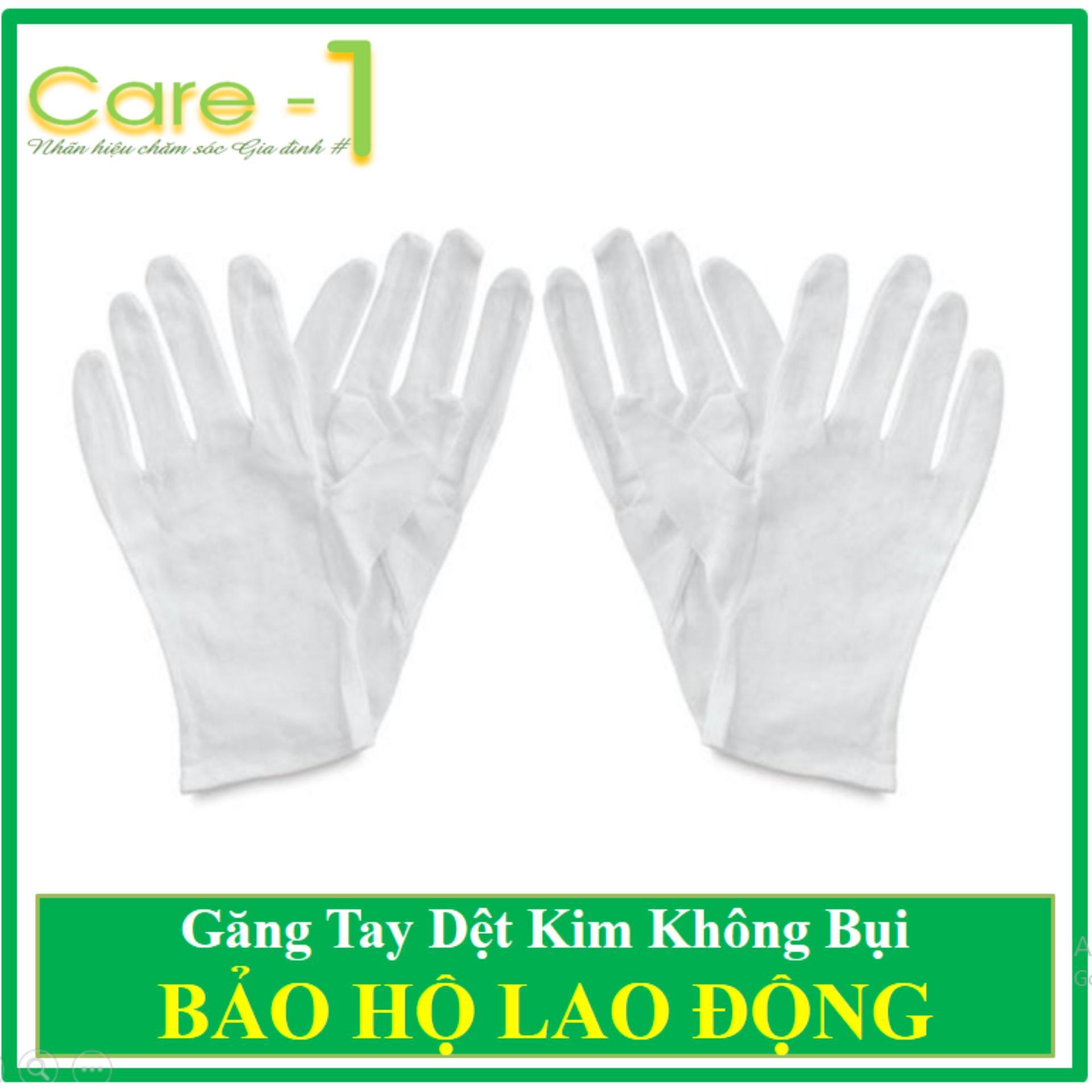 Combo 100 đôi găng tay dệt kim trắng không bụi loại đẹp