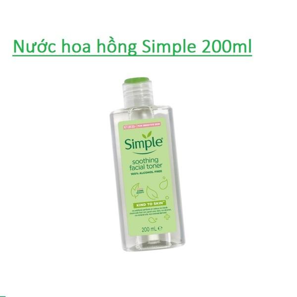 Nước Hoa Hồng Simple Kind To Skin Soothing Facial Toner (200ml) giá rẻ