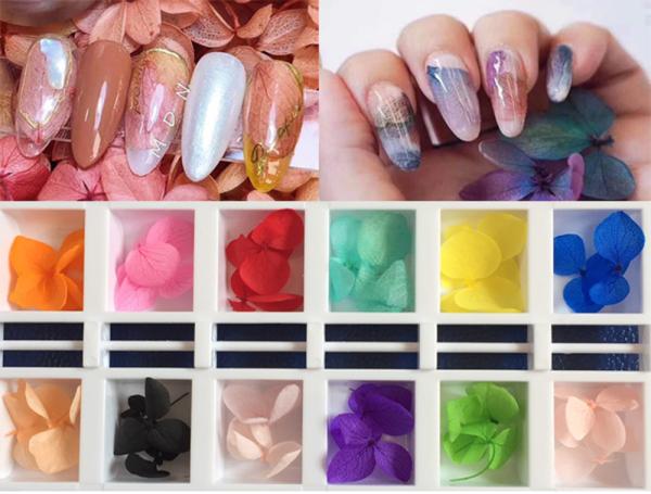 Sét hoa lụa 12 màu chăm sóc trang trí móng làm nail theo phong cách hàn quốc giá rẻ