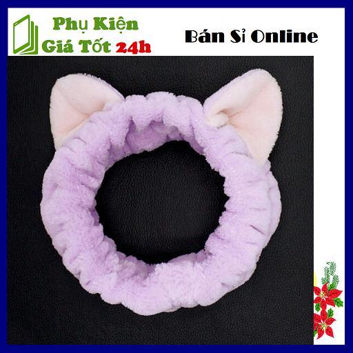 Băng Đô Nơ Tai Mèo Cao Cấp - Dày Chắc Chắn Mềm Mịn - Siêu Bền