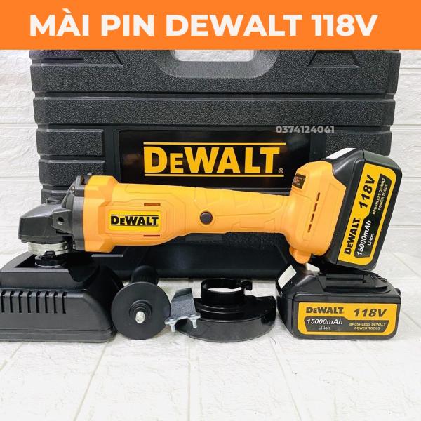 [BẢI HÀNH 6 THÁNG] Máy mài pin Dewalt 118V - Không chổi than - 2 Pin chuẩn 10 CELL - Chuyên cắt, mài, chà nhám, đánh bóng - máy cắt cầm tay dùng pin - may mài cầm tay