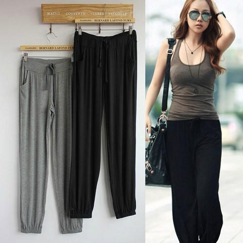 d047725f4da5cf Spring And Summer New Thin Modal Large Size Loose Explicit Thin Pants  Casual Sports Pants Yoga
