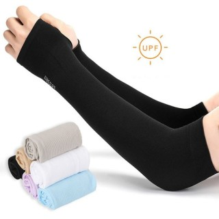 Găng tay nam nữ chống nắng xỏ ngón, găng tay dáng dài chất thun, chống tia UV (Giao màu ngẫu nhiên) - ZGT01 thumbnail