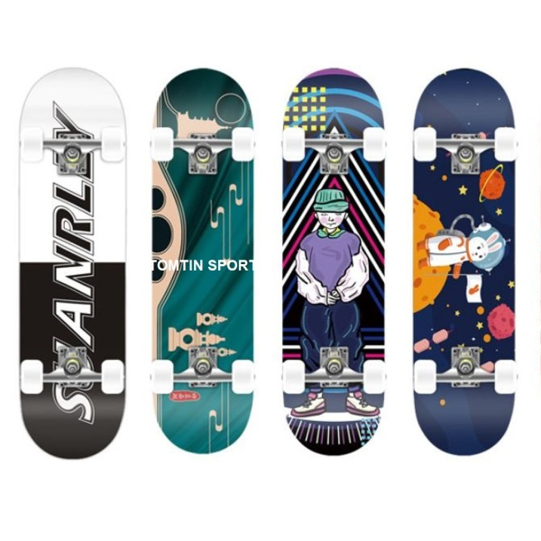 Giá bán Ván trượt skateboard thể thao mặt nhám cỡ lớn dài 80cm gỗ phong ép 9 lớp trọng tải 200kg phù hợp trẻ em, người lớn và người mới tập trượt TOMTIN SPORT