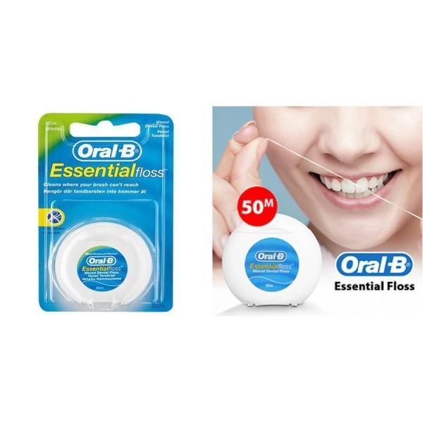 Chỉ Nha Khoa Cao Cấp Nhập UK Oral-B Essential Floss 50m