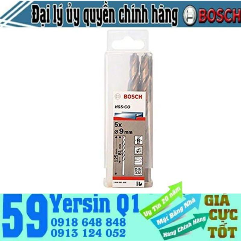 Bộ 5 Mũi khoan sắt và inox HSS-Co Bosch 8mm - 12mm
