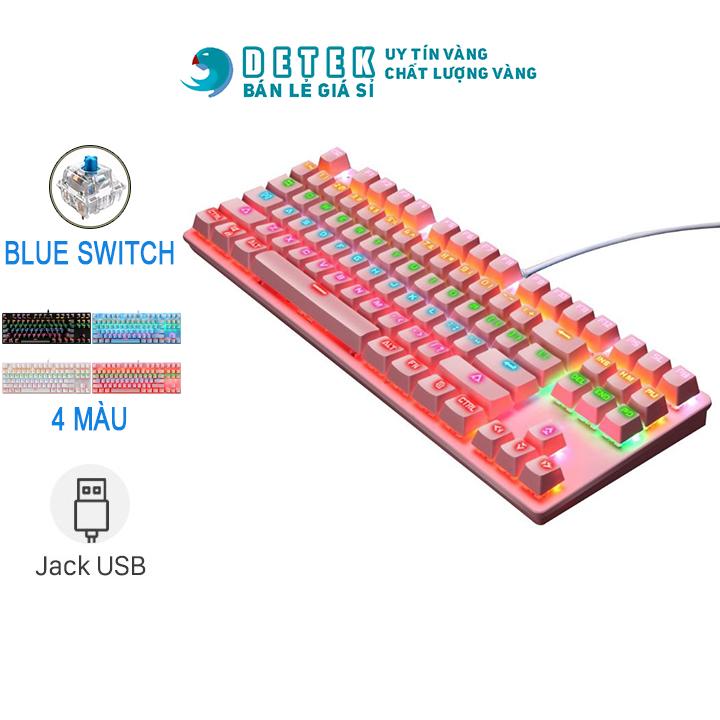 [HCM]Bàn phím cơ game thủ Detek K28 (CK87) - K30 -K550 có đèn LED (nhiều màu)