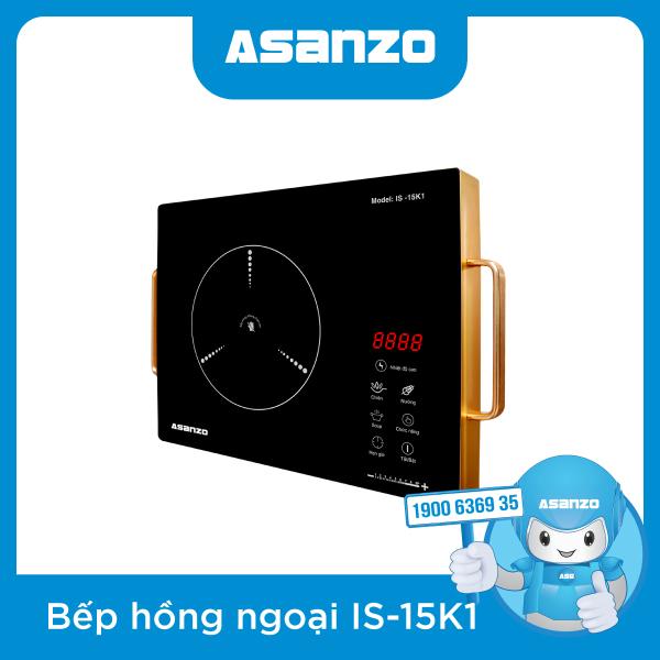 Bếp Hồng Ngoại Cảm Ứng Asanzo IS15K1 (Không Kén Nồi, Kính Cường Lực Chống Trầy, Màn Hình Cảm Ứng, Cách Điện Có Tay Cầm)