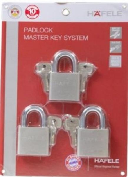 Bộ 3 khóa bấm chìa chủ, chìa chủ, còng Boron, 60mm