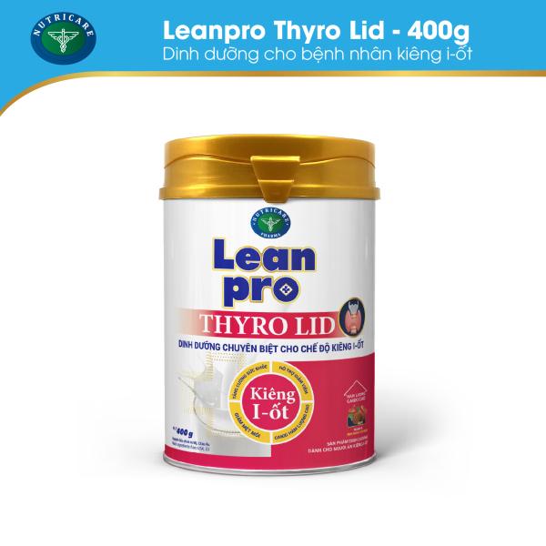 01 lon Leanpro Thyro Lid 400g - Cho người trong chế độ ăn kiêng i ốt