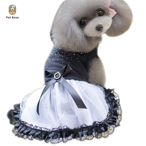 Cat Dog Tutu Dress Lace Bow Puppy Costume Apparel Princess Dresses Pet Clothes