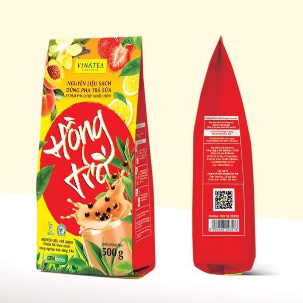 Hồng Trà Vinatea gói 500gr Nguyên liệu sạch dùng pha trà sữa, trà tắc, trà chanh, trà đào
