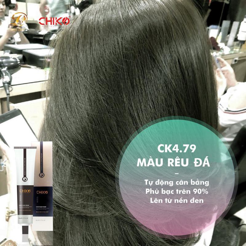 Thuốc Nhuộm tóc màu Rêu Đá (kèm oxi và găng tay) cao cấp