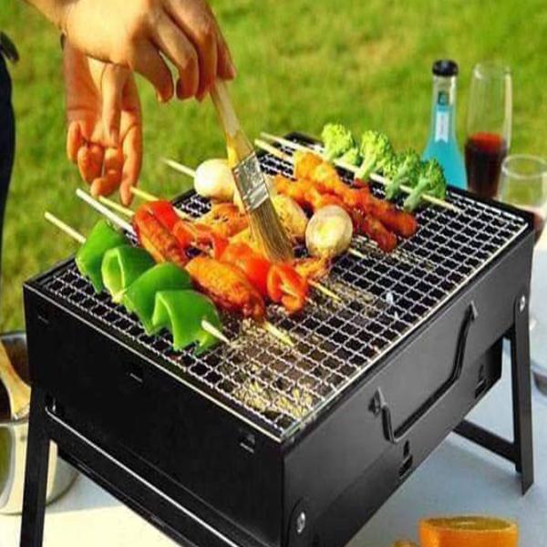 Bếp nướng than hoa vuông Inox - Bếp nướng than củi vuông không khói - Bếp nướng than hoa vuông có vỉ nướng cao cấp nhỏ gọn, tiện lợi, dễ sử dụng- Hàng chính hãng - Có bảo hành