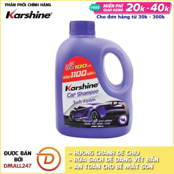 Xà bông rửa xe đậm đặc Karshine KA-RX1100 1100ml Nhiều mùi hương - Dmall247, chăm sóc xe chính hãng