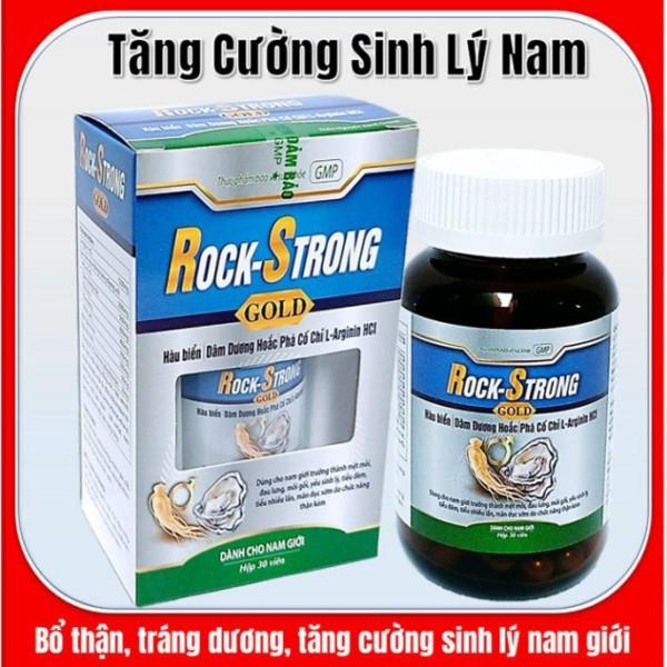 Hàu Biển Rock Strong Gold - Bổ thận tráng dương , tăng cường sinh lý- Hộp 30 Viên-tím than - Rock Strong Gold- tím than