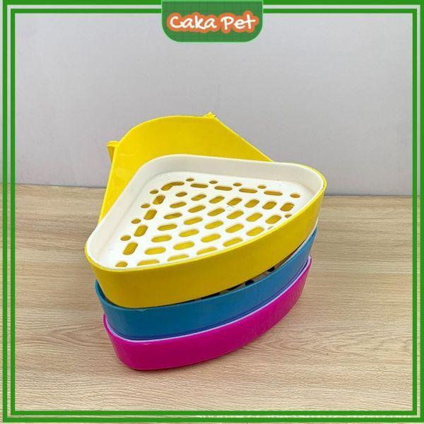 Khay vệ sinh cho chuột lang (Guinea pig, bọ ú), thỏ 🐰𝘽𝙖̉𝙤 𝙝𝙖̀𝙣𝙝 1 đ𝙤̂̉𝙞 1🐹cho cả chinchilla, sóc, nhím, Hình tam giác