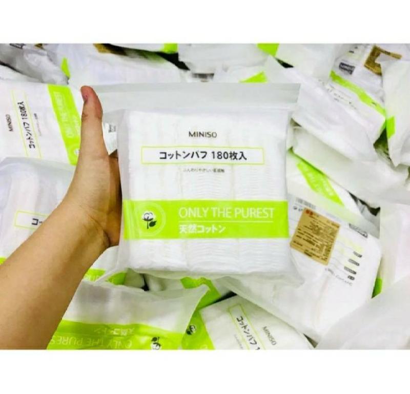 Túi 180 miếng Bông Tẩy Trang Miniso Nhật Bản nhập khẩu