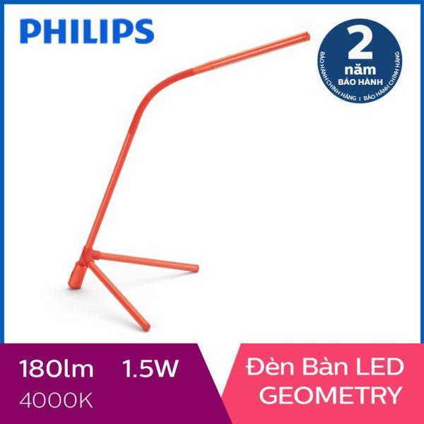 Đèn bàn Philips LED GEOMETRY 66046 + Tặng 01 Hộp Bút và 01 Sổ Tay Cao Cấp