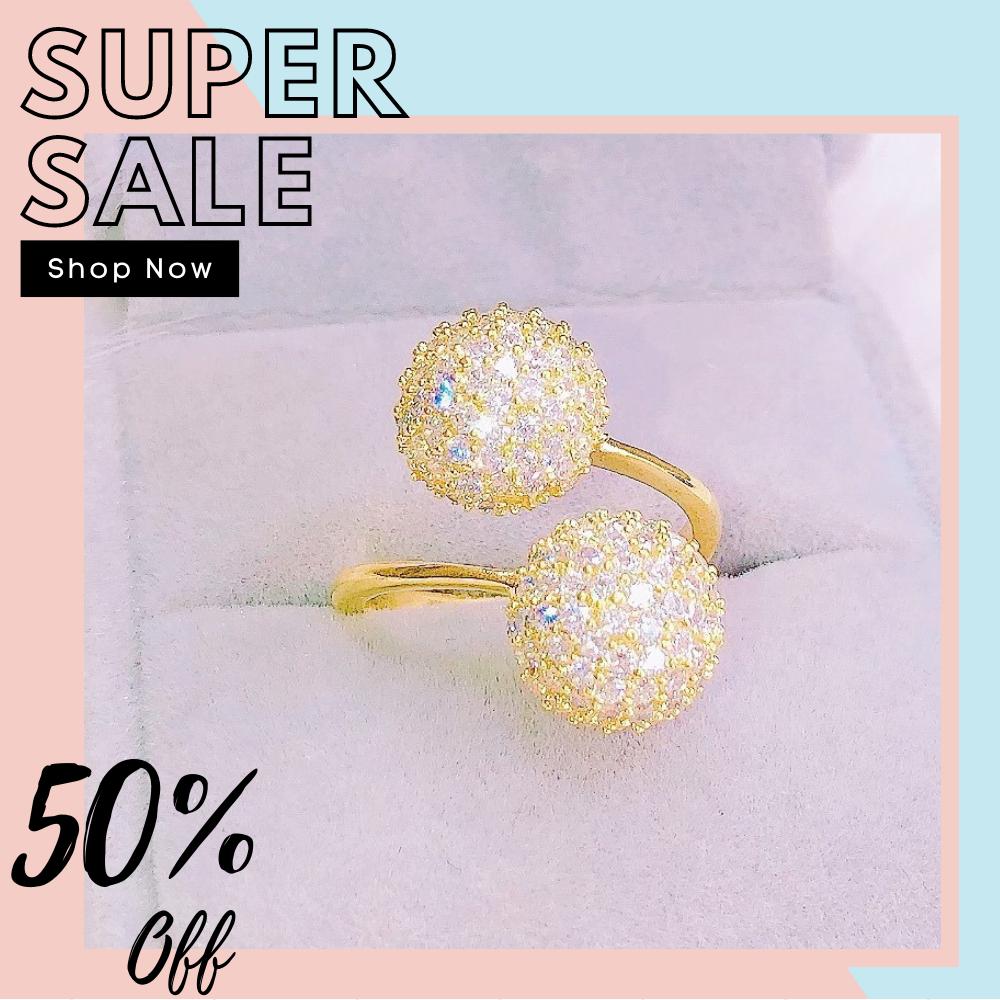 [HCM]Nhẫn nữ nhẫn nữ mạ vàng thật mạ bạch kim trân châu bi đá pha lê hoa sen đá pha lê lấp lánh cao cấp thiết kế sang trọng đẳng cấp Trang Sức Miga N123 - CAM KẾT KHÔNG ĐEN đeo đi tiệc đi chơi siêu xinh đẹp