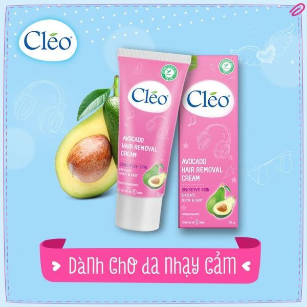 Kem Tẩy Lông Cleo Sensitive Skin 50g – da nhạy cảm hiệu quả trong 05 phút