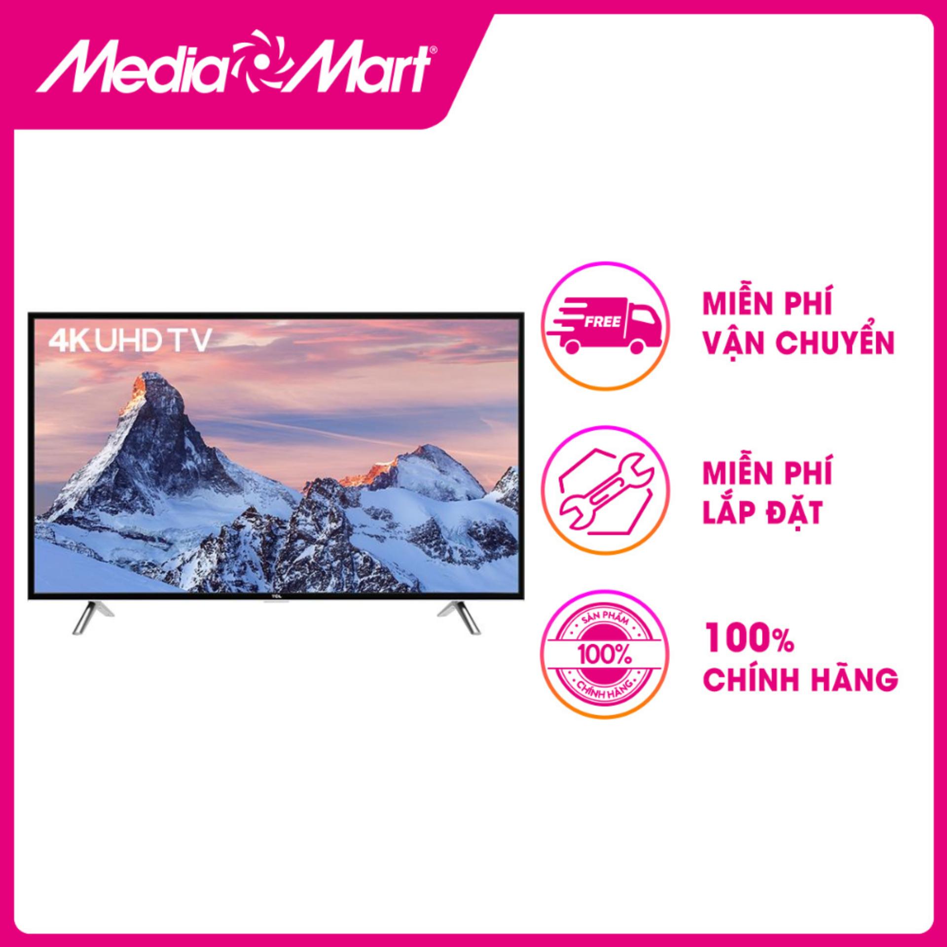 Bảng giá TV LED SMART ULTRA HD 40  TCL 40P62-UF