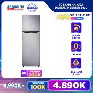 Tủ lạnh hai cửa Samsung Digital Inverter 243L - RT22FARBDSA/SV - REF