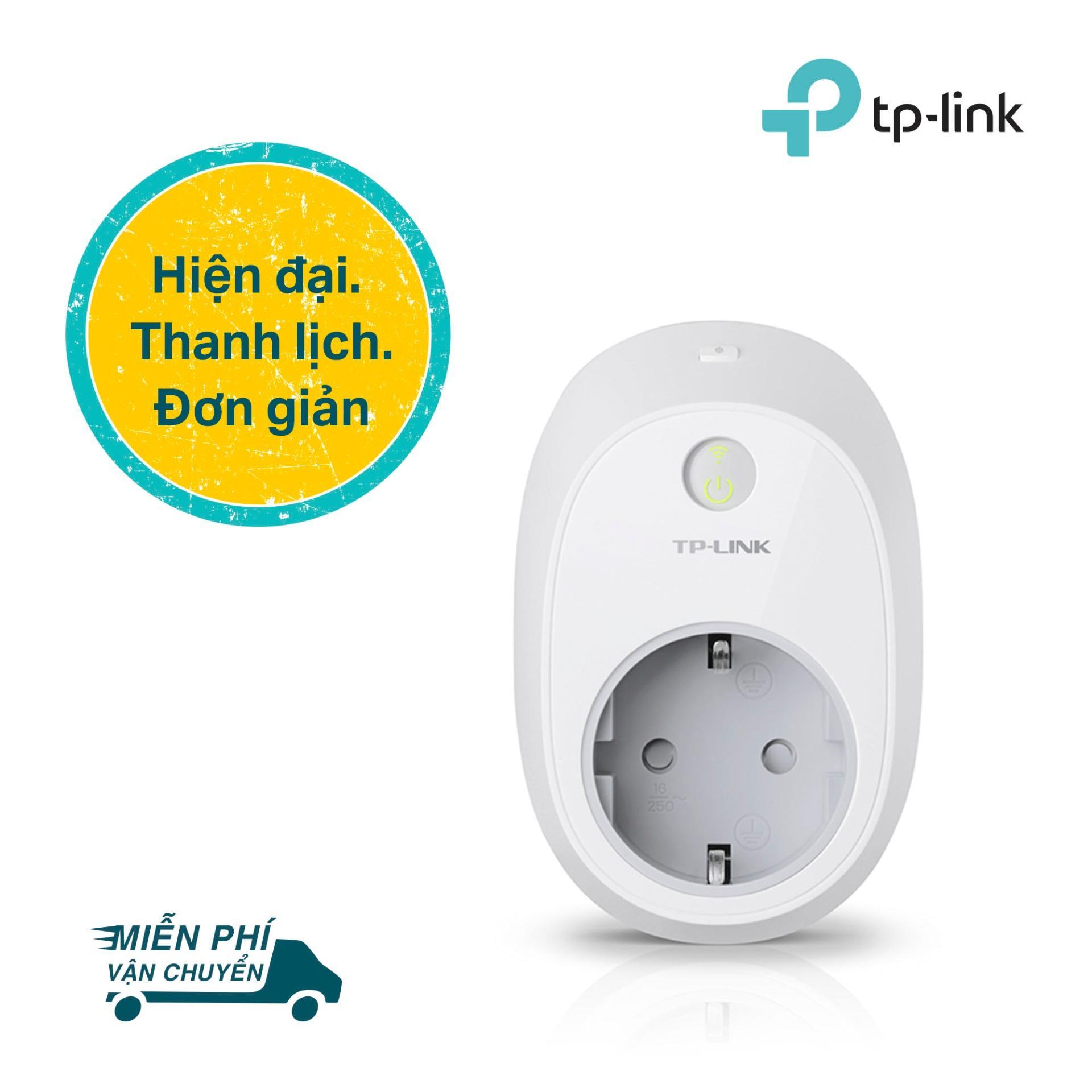 TP-Link Ổ cắm điện Wi-Fi thông minh Điều khiển từ xa - HS100 - Hãng phân phối chính thức