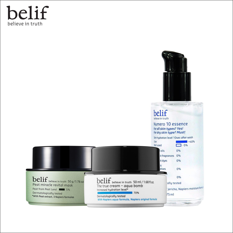 Combo cấp ẩm tức thì và mặt nạ phục hồi da Belif Special Set 3pcs