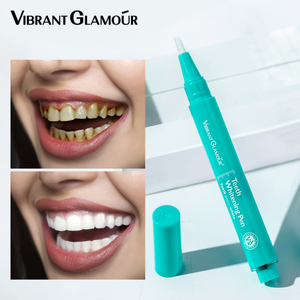 VIBRANT GLAMOUR Bút làm trắng răng Gel Hiệu quả Loại bỏ vết bẩn Làm sạch Tẩy trắng An toàn Dụng cụ làm trắng Chăm sóc răng miệng vệ sinh răng 3 ml giá rẻ