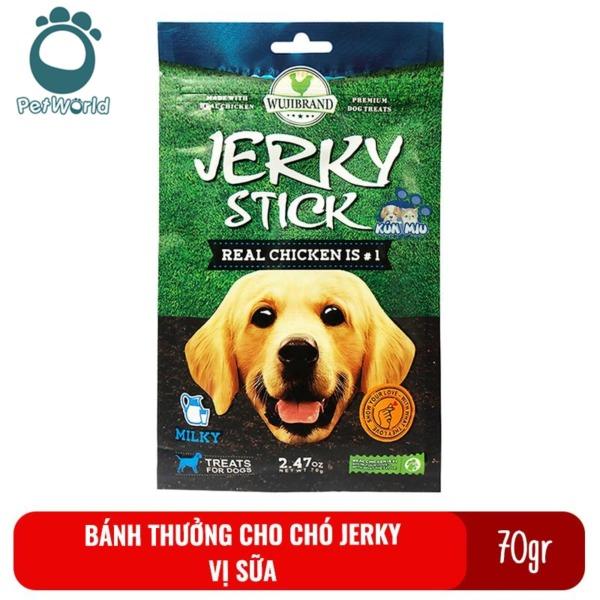 Bánh thưởng cho chó Jerky 70gr - Vị sữa