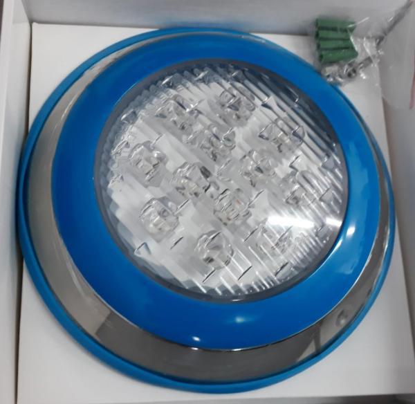 Đèn led 7 màu hồ bơi 12W-12V vỏ ngoài INOX