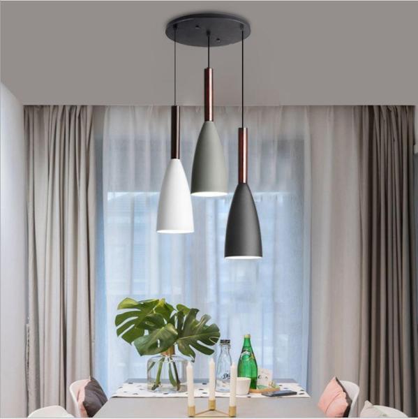 Đèn thả bàn ăn - đèn trang trí phòng bếp - 3 bóng chao nhôm KITCHENLAMP