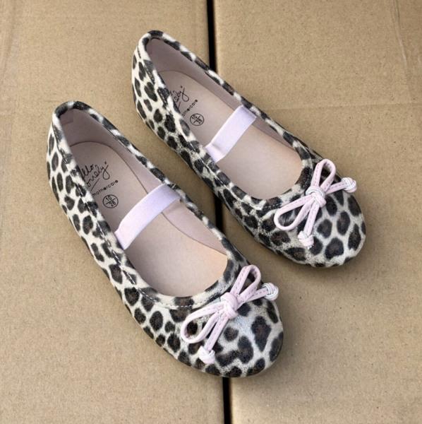 Giá bán Xuất dư xịn Anh UK!! Giày bệt búp bê da báo đốm Leopard Mothercare mẫu mới