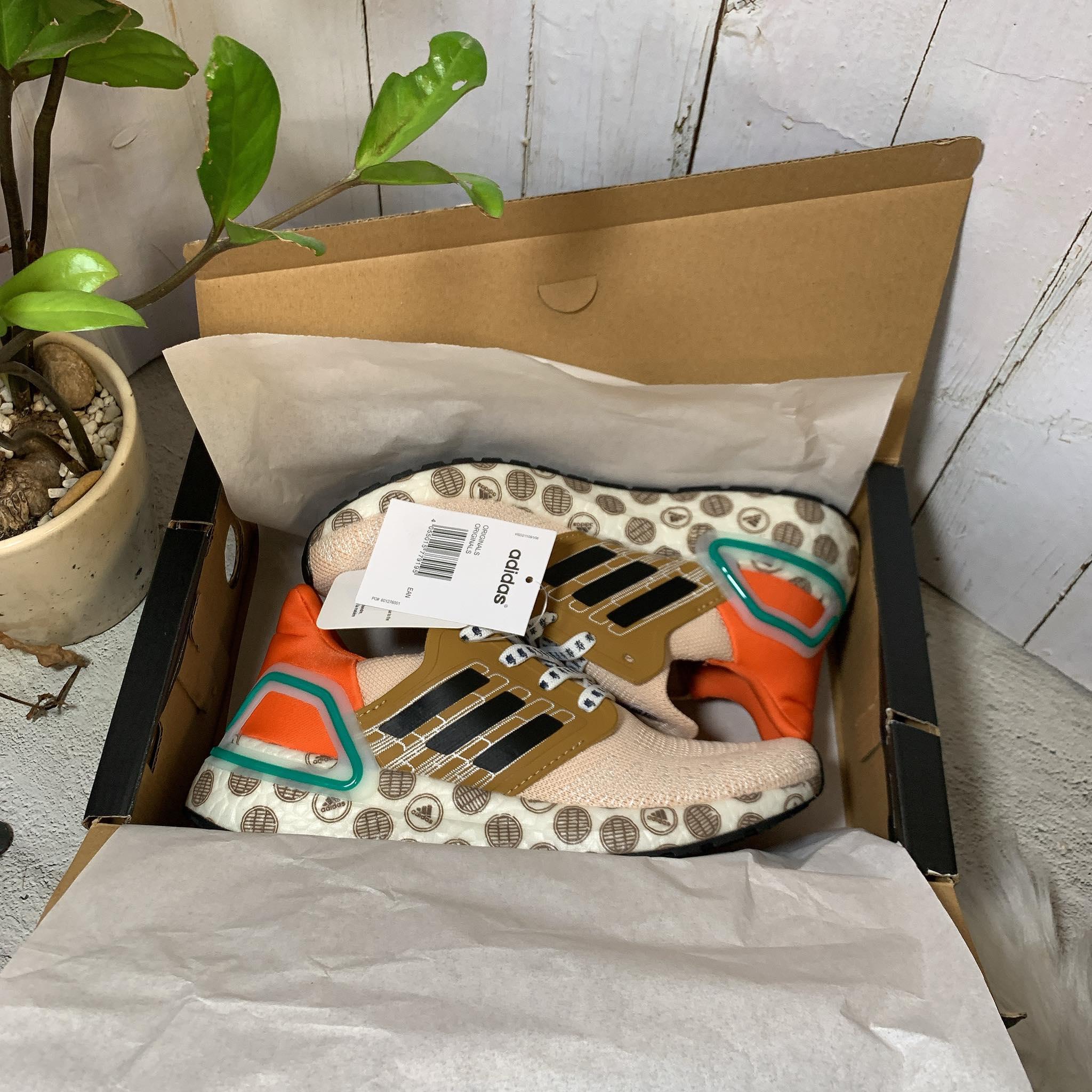 Giày Sneaker Nam Nữ UltraBoost-20 Linen/Black-Glory Amber Full Box Cao Cấp