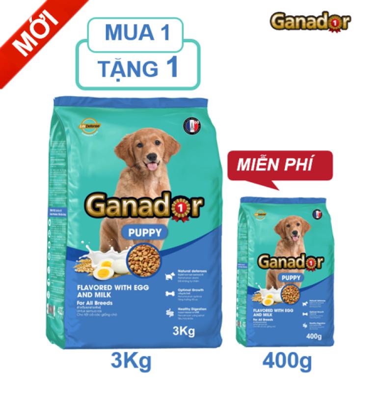 [Mới]Thức ăn cho chó con Ganador vị Trứng và Sữa Egg and Milk 3 kg - Tặng 1 gói 400 gram