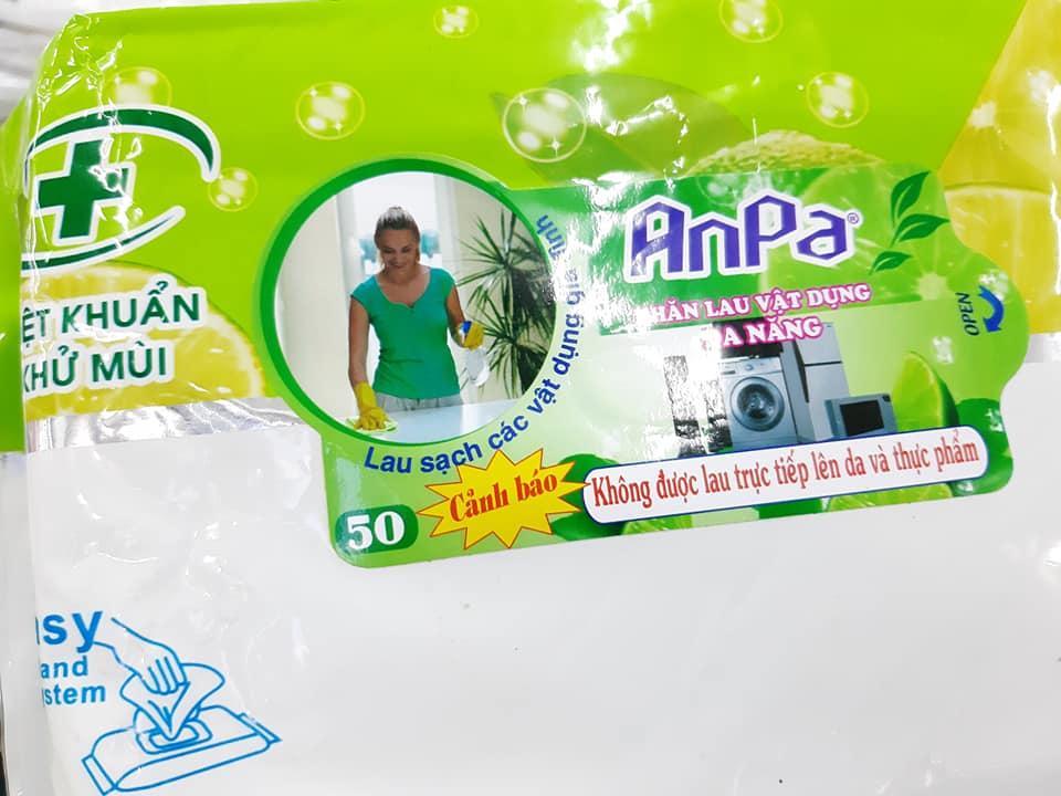 Khăn lau vật dụng đa năng ANPA (50 miếng 24x33cm) lau chùi bếp, vật dụng  gia đình, vết dầu mỡ, thức ăn, lau kính, bề mặt gỗ, v.v...   Lazada.vn