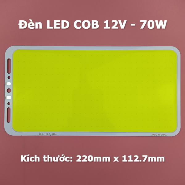 Bảng đèn Led COB công suất 70W siêu sáng 12V - 14V Module Led Panel