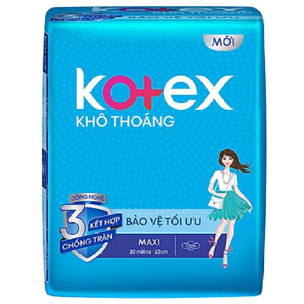 Combo 8 Gói  Băng vệ sinh Kotex khô thoáng maxi có cánh - Mỗi Gòi 8 miếng - HSD Luôn Mới giá rẻ