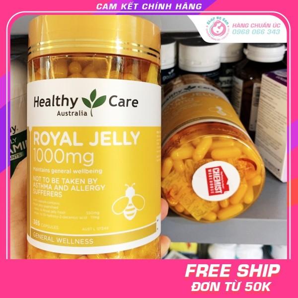 Sữa Ong Chúa Healthy Care Royal Jelly 1000MG 365 viên - Xuất xứ Úc