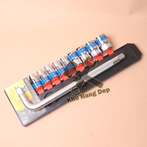 Bộ khóa tuýp 10 chi tiết LS+ chất liệu thép cao cấp BT10L12 – Kho Hàng Đẹp