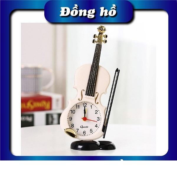 Nơi bán Đồng hồ để bàn hình cây đàn Violin - Đồng hồ để bàn, đồng hồ báo thức hot của năm 2 màu