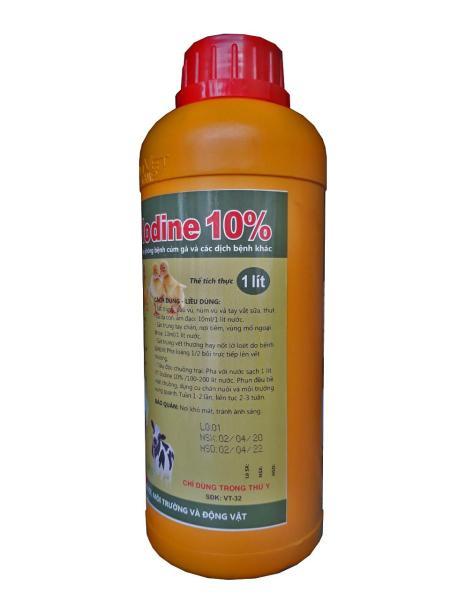 VT-lodine 10% ( 1000ML) Iod hữu cơ tẩy uế chuồng trại phòng bệnh cúm gà và các dịch bệnh khác