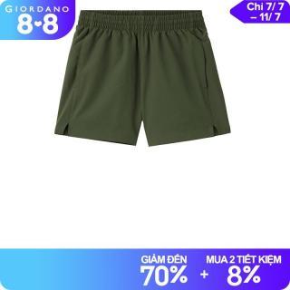 Quần short nữ giản dị cạp chun bằng chất liệu co giãn với công nghệ dệt may mùa hè thoáng khí và thời trang Giordano 13401026 thumbnail